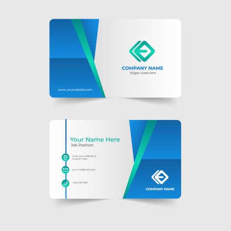 Corporate modern business card template