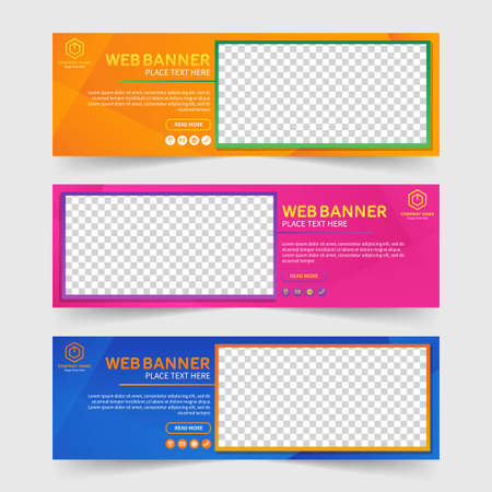 Colorful abstract web banner