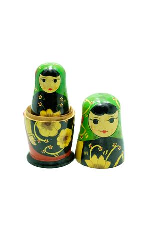 matryoshka doll: A matryoshka doll (Russian Doll) isolated on white