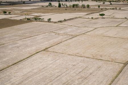 terraced: rice terraced fields in Kanchanaburi, Thailand Stock Photo