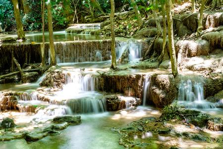 kanchanaburi: Huaymaekamin Waterfall, Kanchanaburi, Thailand
