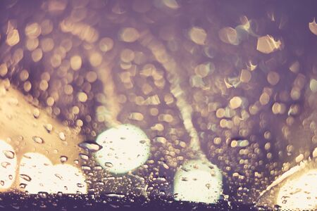 ripple effect: Vintage tone of :Drops Of Rain on the window for Background Stock Photo