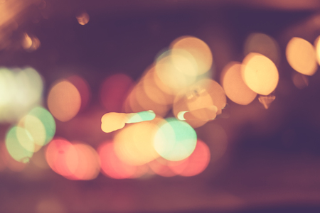 street light: Abstract blur bokeh of traffic and car light on  the road in the city