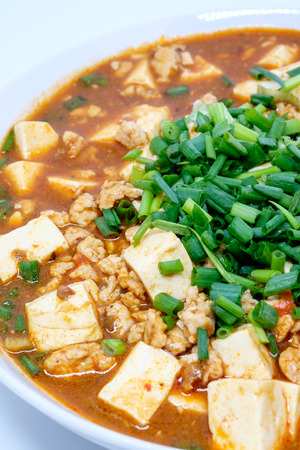 doufu: Mabo tofu or mapo doufu the Chinese dish from Chinas Sichuan Stock Photo