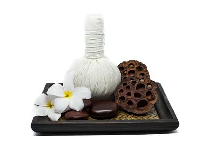 rejuvenate: Spa decoration isolated on white background Stock Photo