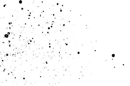 splattered: Splattered pf black ink drops isolated on white background