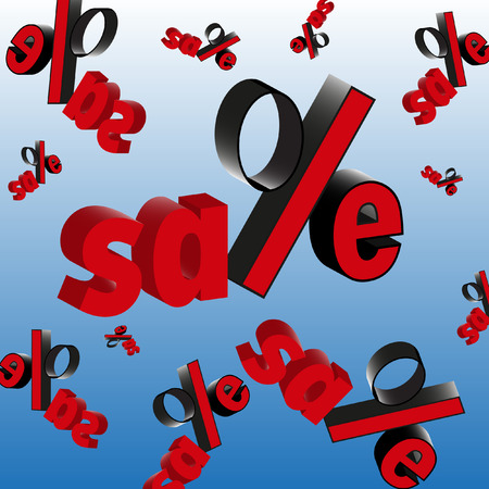 sale price fallen Stock Vector - 26050545