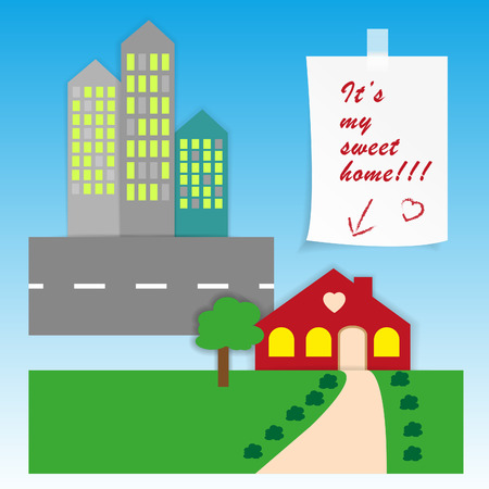 It is a poster about your dream about a sweet home  Vector