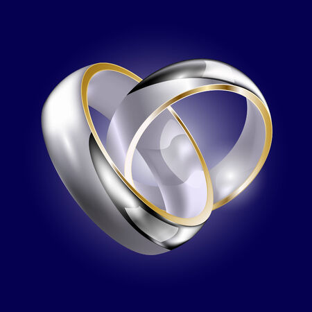 Rings in pair Vector