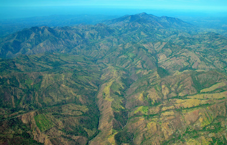 Aerial view of Rainforest showing deforestation, Costa Rica photo
