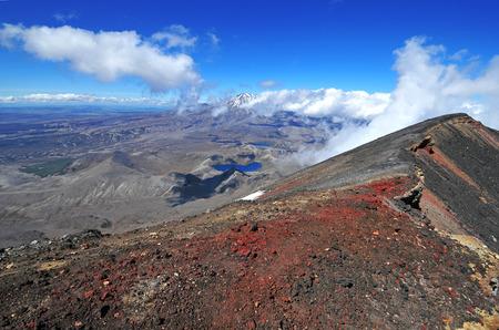tongariro national park: Mount Ngauruhoe Summit, Tongariro National Park, New Zealand