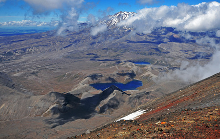 tongariro national park: View from Mount Ngauruhoe Summit, Tongariro National Park, New Zealand