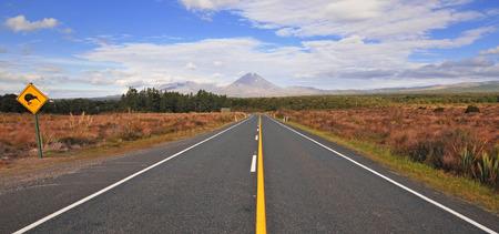 Mount Ngauruhoe in Tongariro National Park, New Zealand  Фото со стока