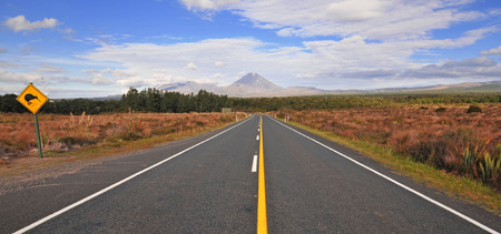 Mount Ngauruhoe in Tongariro National Park, New Zealand  photo