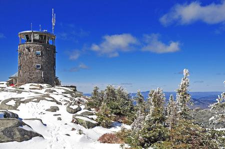 Summit of Whiteface Mountain, Adirondacks, New York, USA  Фото со стока