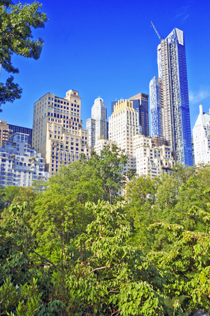Central Park and city skyline, Manhattan, New York  photo