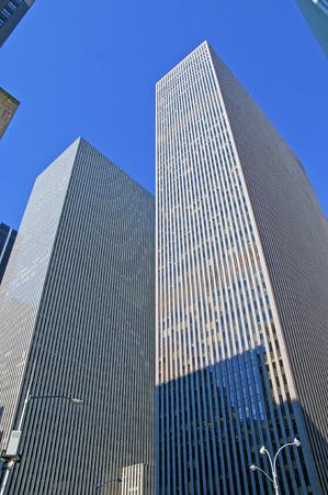 市ニューヨーク ニューヨーク マンハッタンの高層ビル 写真素材