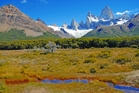 arenas: Fitz Roy Massif near Chalten, Patagonia Argentina
