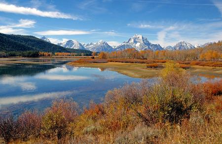 Teton Range, Rocky Mountains, USA photo