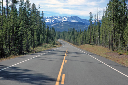 Driving in the Rocky Mountains, USA photo