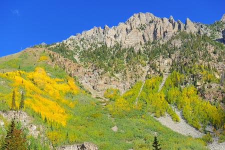 Autumn Color with Fall Foliage, Rocky Mountains, Colorado Stock Photo - 28858754