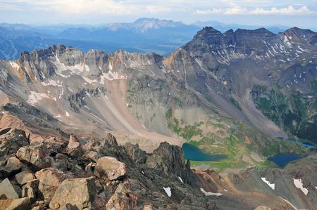 longs peak: Summit view from Mount Sneffels, Rocky Mountains, Colorado