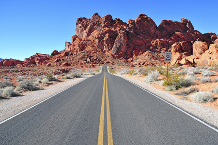 southwest usa: Driving though the Red Rock Landscape of Southwest USA