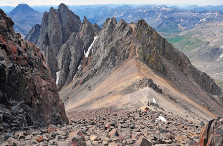 High on Mount Sneffels in the San Juan Mountains, Colorado photo