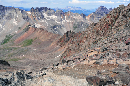 Hiking in the San Juan Mountains, Colorado photo