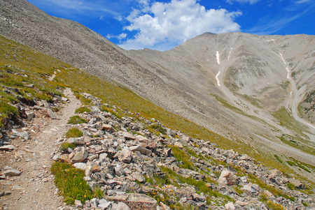 Hiking up Mount Princeton, Colorado 14er photo
