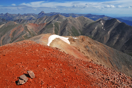 Hiking up Redcloud and Sunshine peak, Colorado 14ers