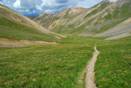 Hiking Trail in the Rocky Mountains, Colorado photo