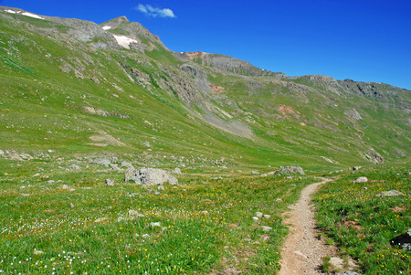 Hiking Trail in the Rocky Mountains photo