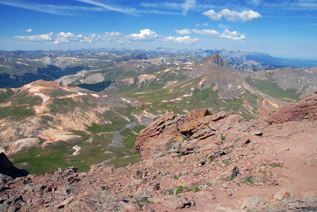 Hiking in the San Juan Mountains Colorado photo