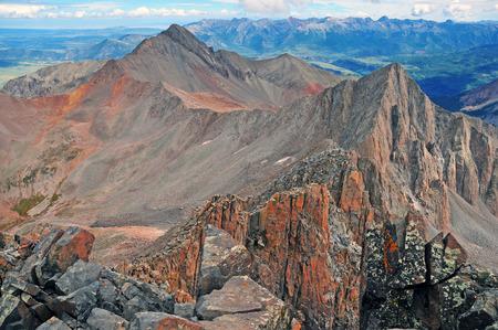 rocky mountains colorado: Wilson Peak, San Juan Range, Rocky Mountains, Colorado, USA