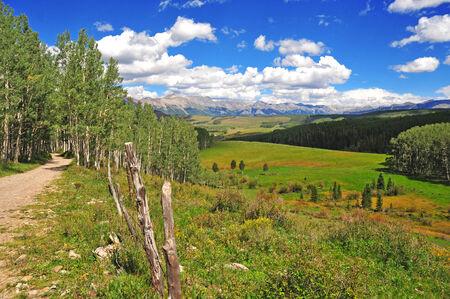 colorado rockies: Open Landscape in Colorado Rockies, USA Stock Photo