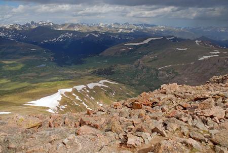 rocky mountains colorado: Mount Bierstadt, Rocky Mountains, Colorado, USA Stock Photo