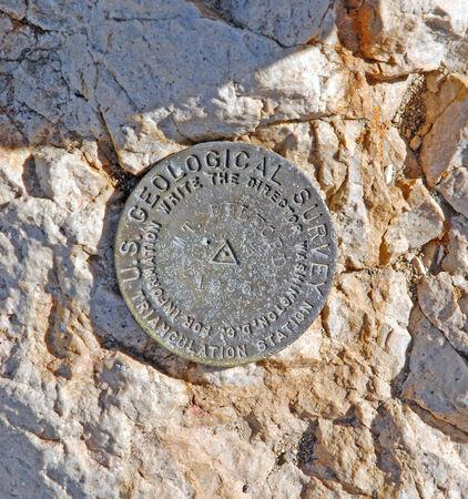 rocky mountains colorado: Mount Belford USGS summit marker, Rocky Mountains, Colorado, USA