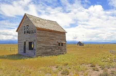 Farmland in America with Old Barn in rural landscape photo