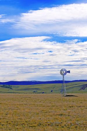 windmill - windpump in rural landscape photo