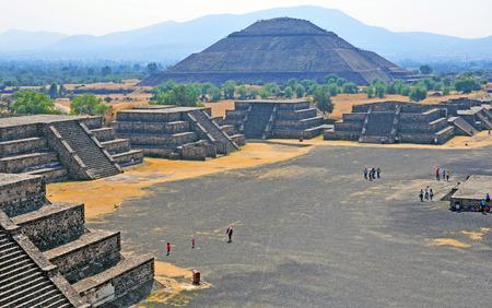 Teotihuacan, 멕시코의 피라미드 스톡 콘텐츠