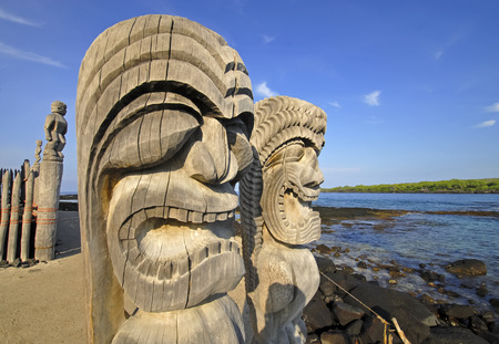 Wood carvings, Big Island, Hawaii