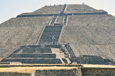 Pyramid of the Sun, along Avenue of the Dead, Teotihuacan, Mexico