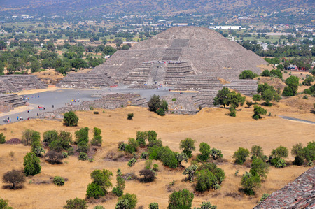 Pyramid of the Moon, along Avenue of the Dead, Teotihuacan, Mexico
