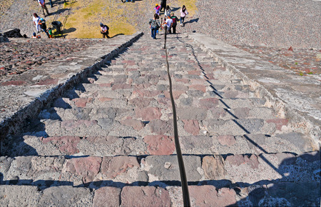 Pyramid Steps Platform along Avenue of the Dead, Teotihuacan, Mexico
