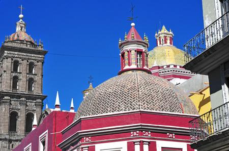 Traditional Architecture, Puebla, Mexico photo