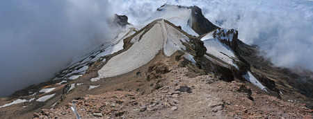 Iztaccihuatl - View from the summit , Trans-Mexican Volcanic Belt, Mexico Imagens - 29305244