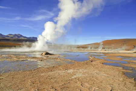 el: El Tatio Geysers, Atacama Desert, Chile  Stock Photo