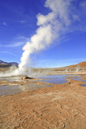 geysers: El Tatio Geysers, Atacama Desert, Chile  Stock Photo