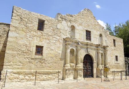 john wayne: The Historic Alamo, San Antonio, Texas, USA  Stock Photo